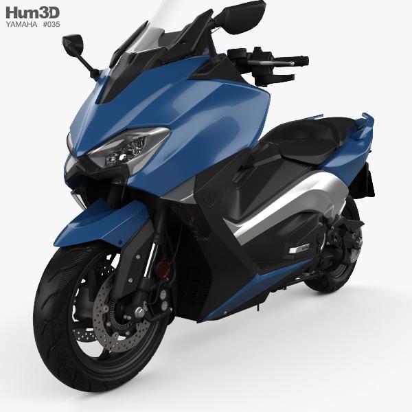 Yamaha TMAX 2017 3D model