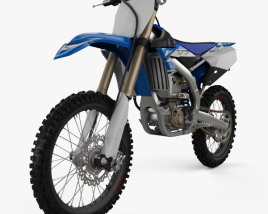 3D model of Yamaha YZ250F 2017