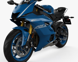 3D model of Yamaha R6 2017