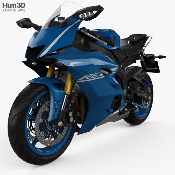 Yamaha R6 2017 3D model