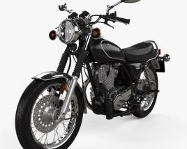 3D model of Yamaha SR400 2015