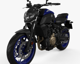 3D model of Yamaha MT-07 2018