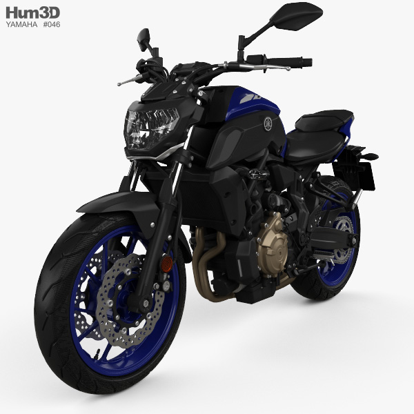 Yamaha MT-07 2018 3D model