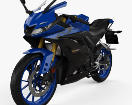 3D model of Yamaha YZF-R125 2019