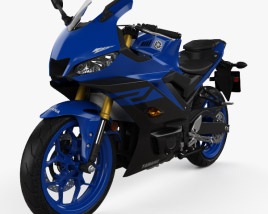 3D model of Yamaha YZF-R3 2019