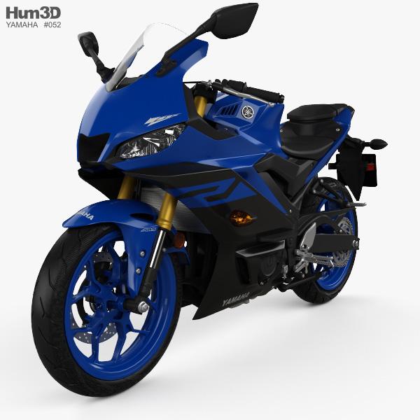 Yamaha YZF-R3 2019 3D model