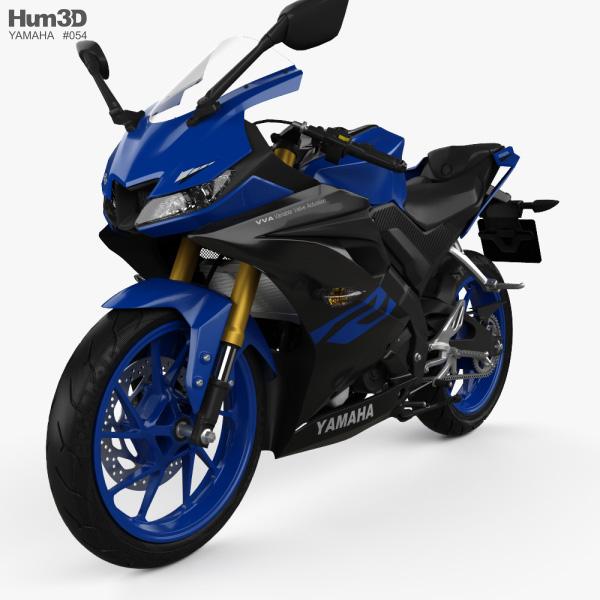 3D model of Yamaha R15 2020