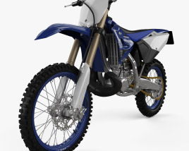 3D model of Yamaha YZ250 2020
