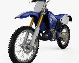 3D model of Yamaha YZ250 1998