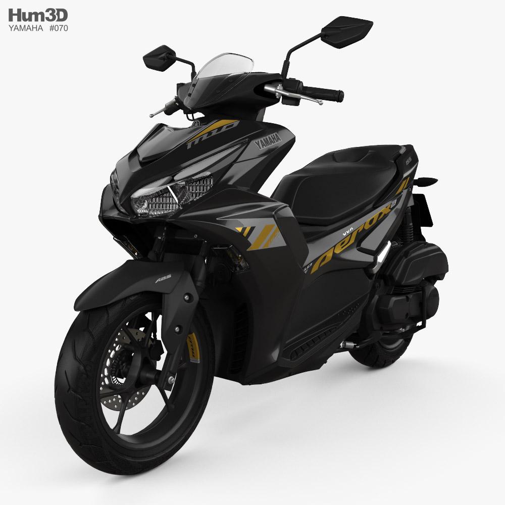 Yamaha Aerox 155 2021 3d model