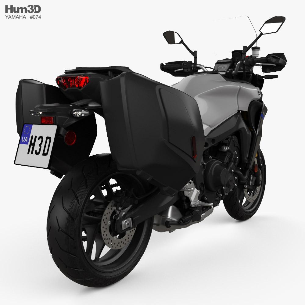 Yamaha Tracer9 GT 2021 3d model back view
