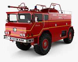 3D model of Yankee-Walter PLF 6000 Dry Powder Fire Truck 1972