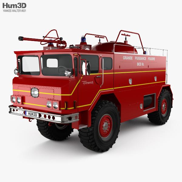 3D model of Yankee-Walter PLF 6000 Dry Powder Fire Truck 1972
