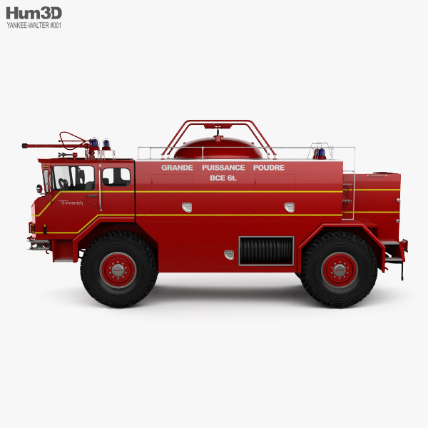 Yankee-Walter PLF 6000 Dry Powder Fire Truck 1972 3D model