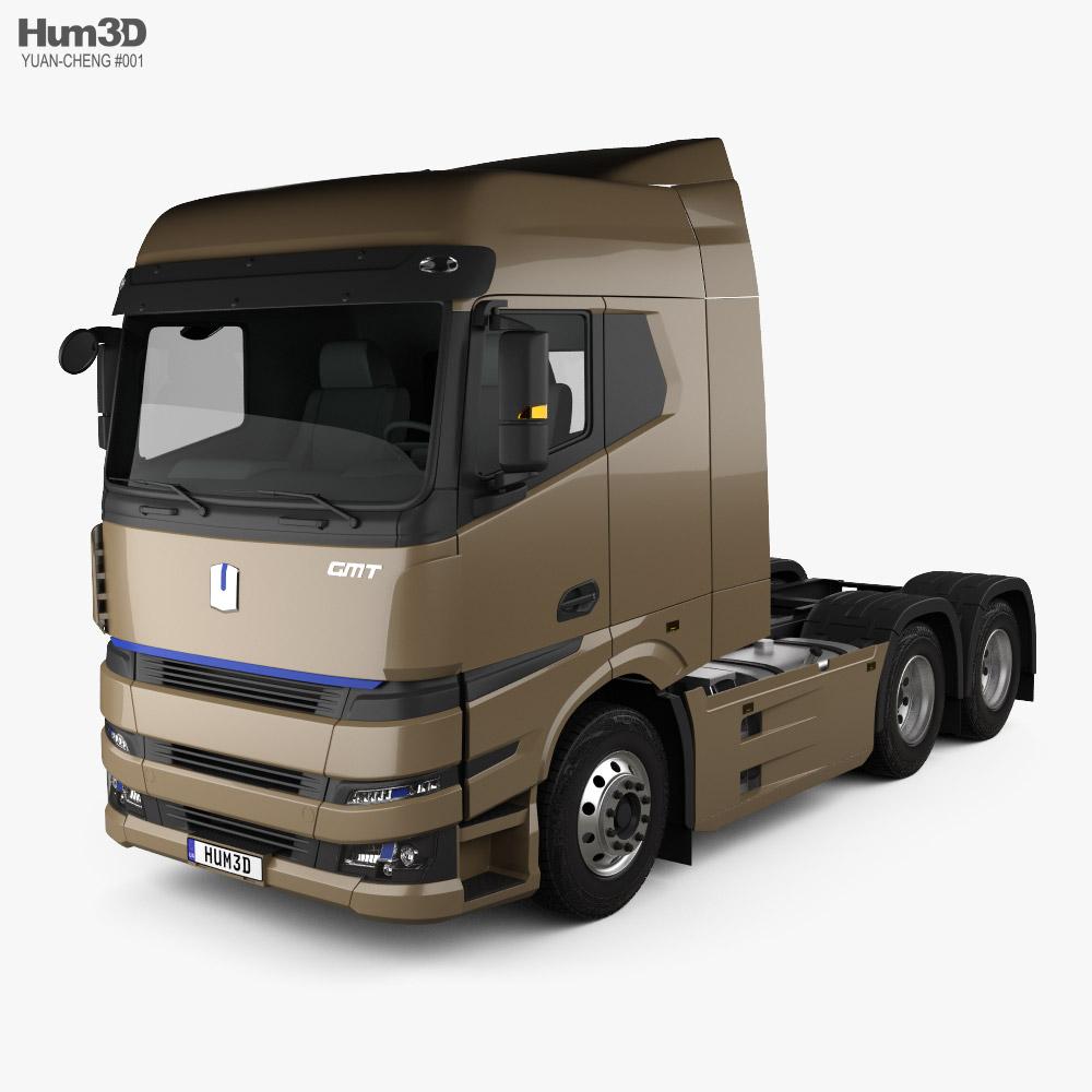 Yuan-Cheng M100 Tractor Truck 2021 3D model