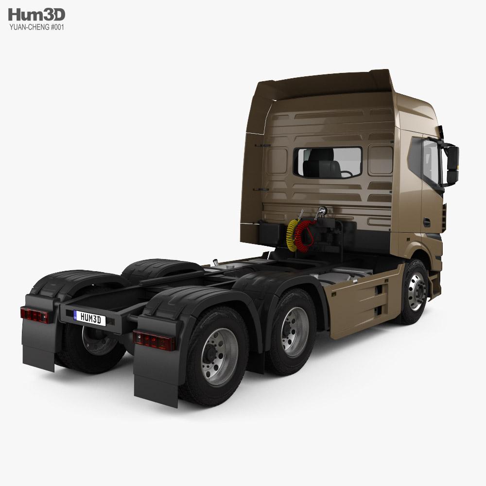 Yuan-Cheng M100 Tractor Truck 2021 3d model back view