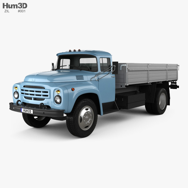 3D model of ZIL 130 Flatbed Truck 1964