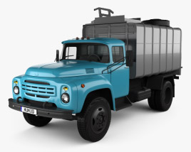 3D model of ZIL 130 Garbage Truck 1964