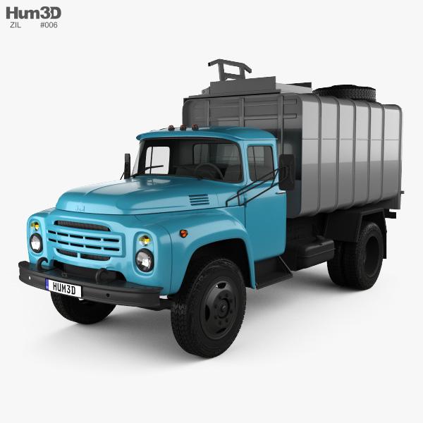 3D model of ZIL 130 Garbage Truck 1964