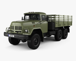 3D model of ZIL 131 Flatbed Truck 1966