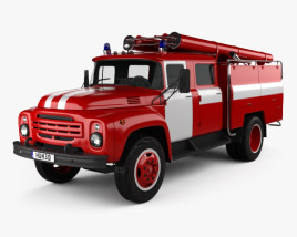 3D model of ZIL 130 Fire Truck 1970