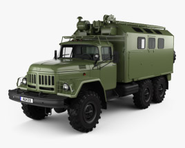 ZiL 131 Army Box Truck 1966 3D model
