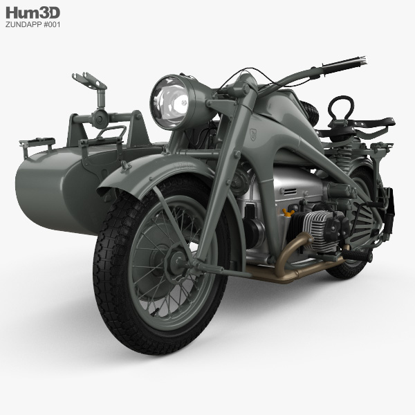 3D model of Zundapp KS750 1944
